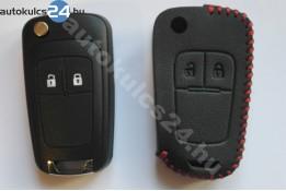 Opel 2 carcasă cheie briceag cu butoane toc din piele