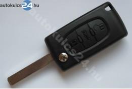 Peugeot 3 carcasă cheie briceag cu butoane VA2 #2