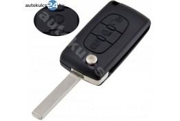Citroen 3 carcasă cheie briceag cu butoane VA2 buton de iluminare