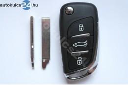 Peugeot 3 carcasă cheie briceag cu butoane HU83