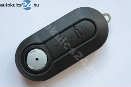 Fiat 3 carcasă cheie briceag cu butoane negru