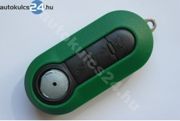 Fiat 3 carcasă cheie briceag cu butoane verde