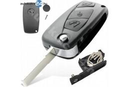Citroen 3 carcasă cheie briceag cu butoane negru baterie laterală