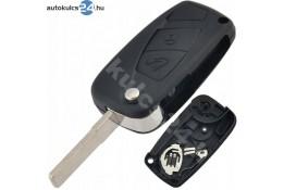 Fiat 2 carcasă cheie briceag cu butoane negru baterie laterală