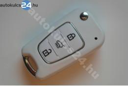 Hyundai 3 carcasă cheie briceag cu butoane alb