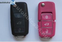 Volkswagen 3 carcasă cheie briceag cu butoane impermeabil roz
