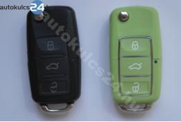 Volkswagen 3 carcasă cheie briceag cu butoane impermeabil verde