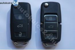 Volkswagen 3 carcasă cheie briceag cu butoane impermeabil negru